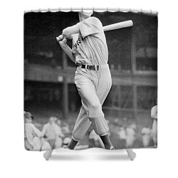 Ted Williams Swing Shower Curtain by Gianfranco Weiss