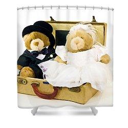 Teddy Bear Honeymoon Shower Curtain by Edward Fielding