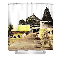 Temple In India Shower Curtain by Sumit Mehndiratta