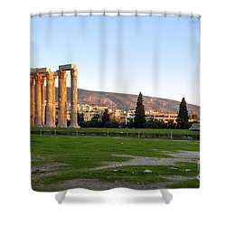 Temple Of Olympian Zeus. Athens Shower Curtain by Ilan Rosen