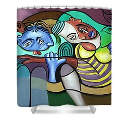 Tender Moments Shower Curtain by Anthony Falbo