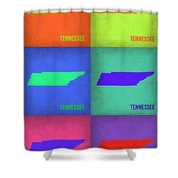 Tennessee Pop Art Map 1 Shower Curtain by Naxart Studio