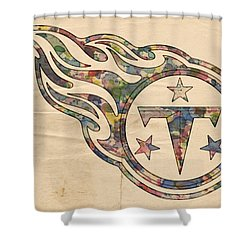Tennessee Titans Poster Art Shower Curtain by Florian Rodarte
