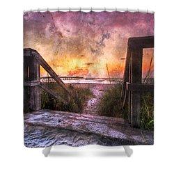 Tequilla Sunrise Shower Curtain by Debra and Dave Vanderlaan