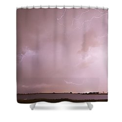 Terry Lake Lightning Thunderstorm Shower Curtain by James BO  Insogna