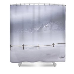 Teton Morning Shower Curtain by Priscilla Burgers