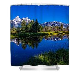 Teton Reflection Shower Curtain by Chad Dutson