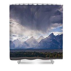 Teton Storm Shower Curtain by Mark Kiver