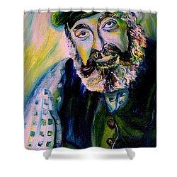 Tevye Fiddler On The Roof Shower Curtain by Carole Spandau