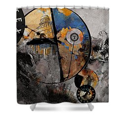 Texas - B Shower Curtain by Corporate Art Task Force