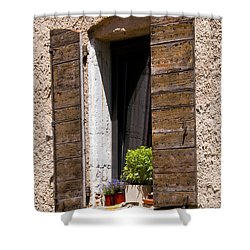 Textured Shutters Shower Curtain by Bob Phillips