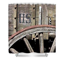 The 1880 Supply Wagon Shower Curtain by Joe Kozlowski