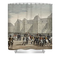 The Abdication Of Napoleon Shower Curtain by Louis Francois Couche