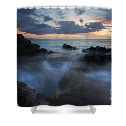 The Abyss Shower Curtain by Mike  Dawson