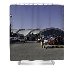 The Airport In Srinagar The Capital Of Jammu And Kashmir Shower Curtain by Ashish Agarwal
