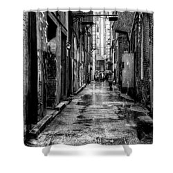The Alleyway In Market Square - Knoxville Tennesse Shower Curtain by David Patterson
