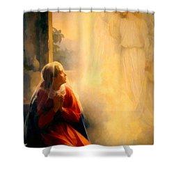 The Annunciation Shower Curtain by Carl Bloch