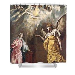 The Annunciation Shower Curtain by El Greco Domenico Theotocopuli