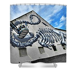 The Artist Roa At Work  Shower Curtain by Steve Taylor