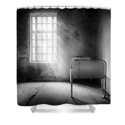 The Asylum Project - Empty Bed Shower Curtain by Erik Brede