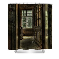 The Asylum Project - Welcome Shower Curtain by Erik Brede
