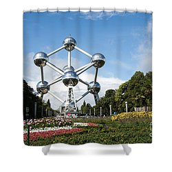 The Atomium Shower Curtain by Juli Scalzi