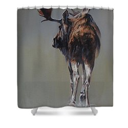 The Bachelor Shower Curtain by Mia DeLode