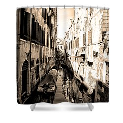 The Back Canals Of Venice Shower Curtain by Bill Cannon