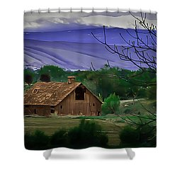 The Barn Shower Curtain by Robert Bales