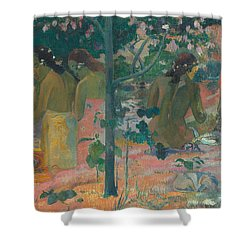 The Bathers Shower Curtain by Paul Gaugin