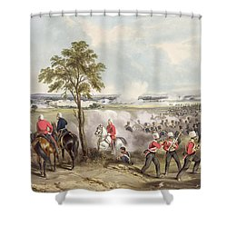 The Battle Of Goojerat On 21st February Shower Curtain by Henry Martens
