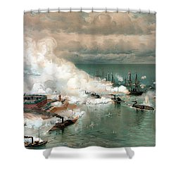 The Battle Of Mobile Bay Shower Curtain by War Is Hell Store