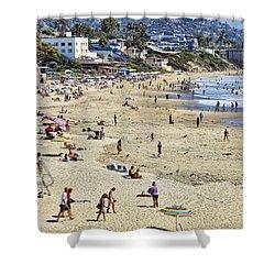 The Beach At Laguna Shower Curtain by Kelley King