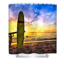 The Beach Boys Shower Curtain by Debra and Dave Vanderlaan