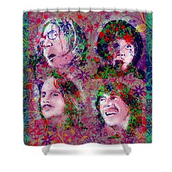 The Beatles 8 Shower Curtain by Bekim Art