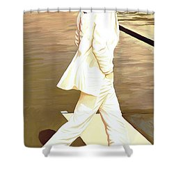 The Beatles Abbey Road Artwork Part 4 Of 4 Shower Curtain by Sheraz A