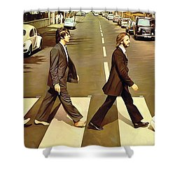 The Beatles Abbey Road Artwork Shower Curtain by Sheraz A