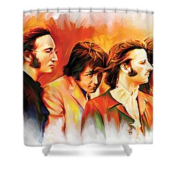 The Beatles Artwork Shower Curtain by Sheraz A