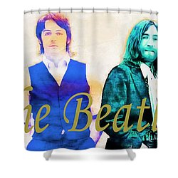 The Beatles Shower Curtain by Barbara Chichester