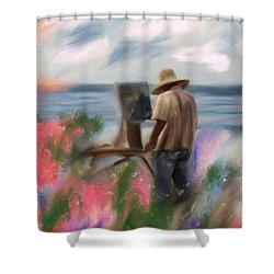 The Beauty Of A Painter Shower Curtain by Angela A Stanton