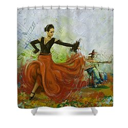The Beauty Of Music And Dance Shower Curtain by Corporate Art Task Force