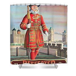 The Beefeater Shower Curtain by Peter Green