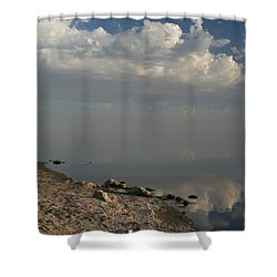 The Beginning And The End Shower Curtain by Laurie Search