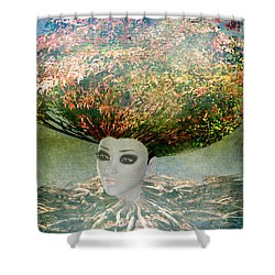 The Beginning Shower Curtain by Terry Fleckney