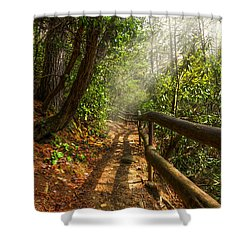 The Benton Trail Shower Curtain by Debra and Dave Vanderlaan