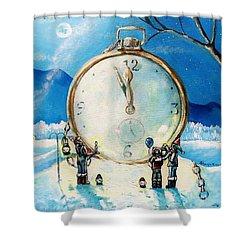 The Big Countdown Shower Curtain by Shana Rowe Jackson