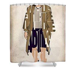 The Big Lebowski Inspired The Dude Typography Artwork Shower Curtain by Ayse Deniz