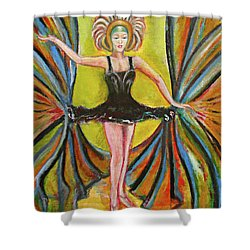 The Black Tutu Shower Curtain by Tom Conway