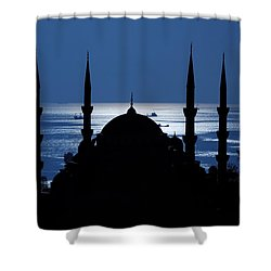 The Blue Mosque Shower Curtain by Ayhan Altun