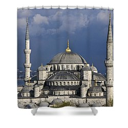 The Blue Mosque In Istanbul Shower Curtain by Michele Burgess